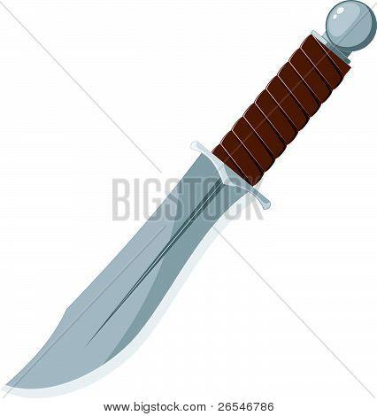 Vector Illustration Of A Sharp Knife