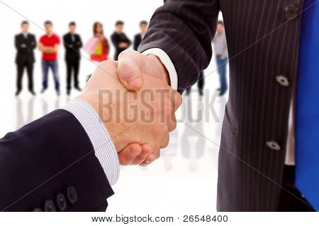 handshake of business partner after the deal