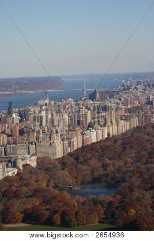 Aerial View Of Upper West Side