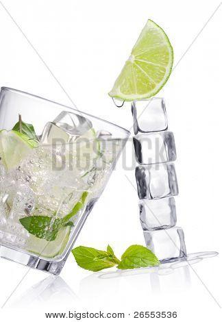 Cold fresh lemonade.