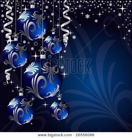 xmas bauble. christmas decoration. vector greeting card