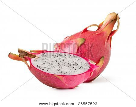 Pink pitahaya isolated on a white background