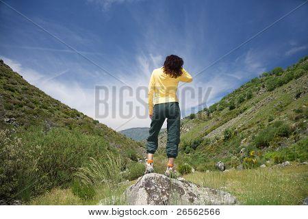 Stand Woman At Natural V