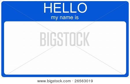 Blue Nametag