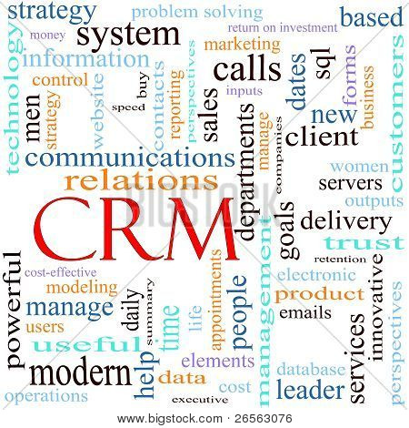 Crm Word Concept Illustration