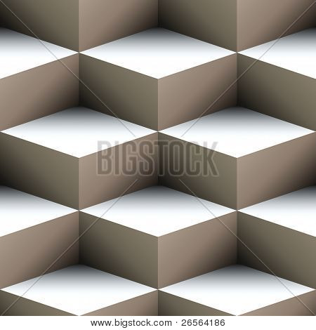 Geometric seamless pattern made of stacked cubes