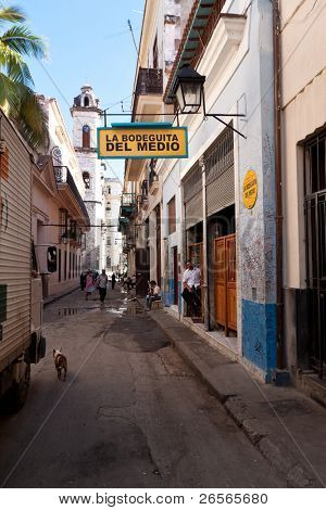 HAVANA-NOVEMBER 30:La Bodeguita del Medio November 30,2010 in Havana.This iconic cuban restaurant has been the favourite of world celebrities since its creation and it's also the birthplace of mojito