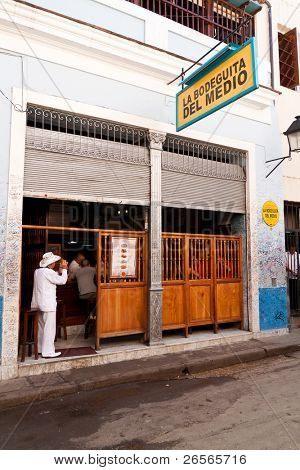 HAVANA - NOVEMBER 30: La Bodeguita del Medio November 30,2010 in Havana. This iconic cuban restaurant has been the favourite of world celebrities since its creation and it's also the birthplace of mojito