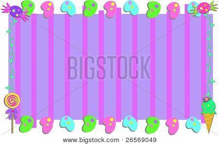 Frame with Candy and Stripes