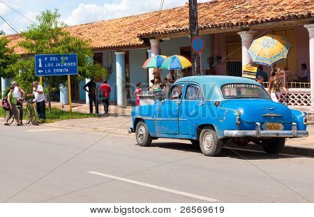 VINALES,CUBA-OCT 1:Classic Chevrolet October 1,2011 in Vinales.Under the current law that the government plans to change before 2012,Cubans can only trade cars that were on the road before 1959