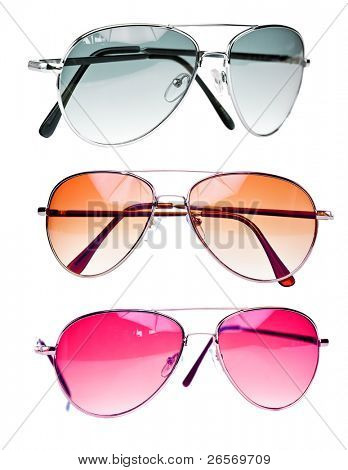 Fashionable sunglasses isolated on a white background