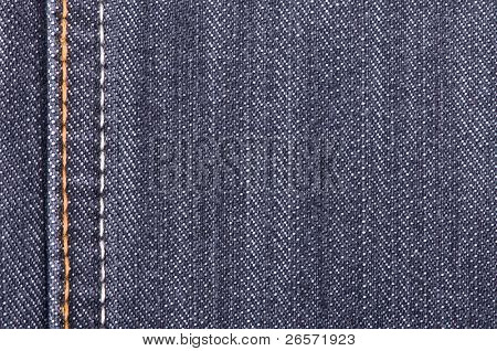 Denim fabric texture ideal for background, closeup of jeans