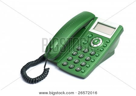 Modern digital phone, isolated on white background