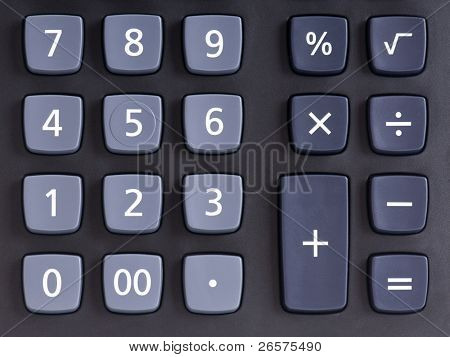 Big black calculator - keypad background
