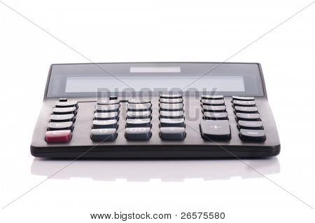 Big black calculator isolated on white background