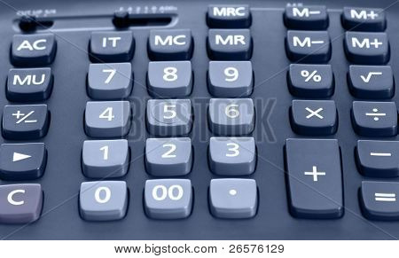 The big black calculator - close up keypad background