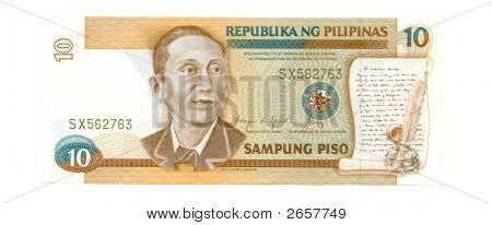 10 Piso Bill Of Philippines