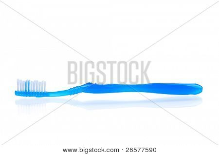 Blue tooth brush isolated on a white background