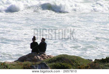 Couple  On Rocks