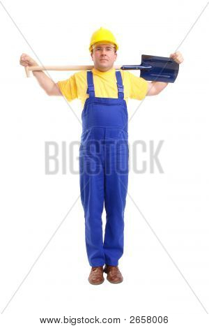 Builder With Shovel