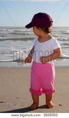 Baby Gril On The Beach