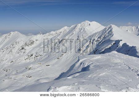 Balea Ski Resort In Transylvania Romania Viewed From Above