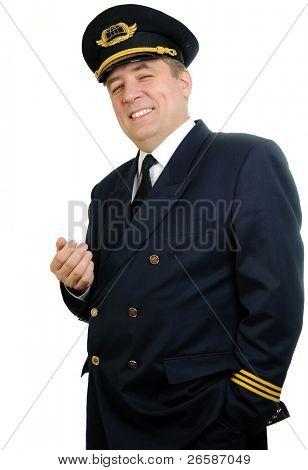 Man in uniforn of pilot