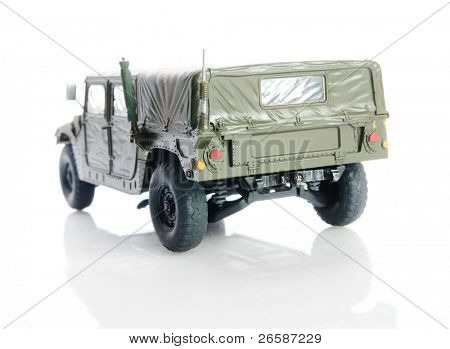 Isolated army humvee