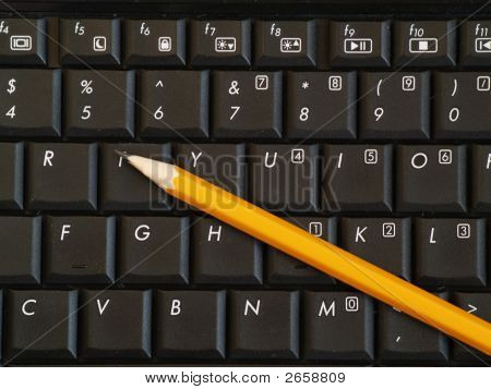 Pencil On Keyboard