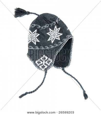 Winter hat isolated on white