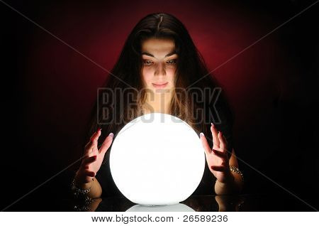 Fortuneteller at work