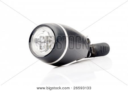 Flashlight isolated over white