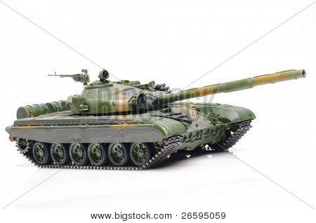 Scale model of russian tank