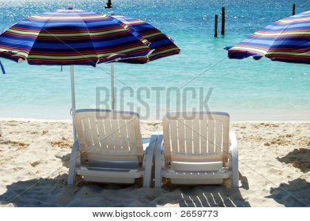 Beach Chairs With Umbrellas 4