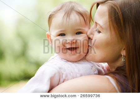 Mother with baby at outdoors