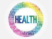 Health Circle Word Cloud, Fitness, Sport, Health Concept poster