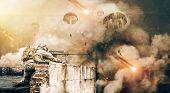 Modern World War In The War Field poster