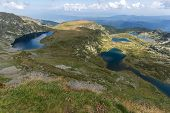 Summer View Of The Kidney, The Twin, The Trefoil, The Fish And The Lower Lakes , Rila Mountain, The  poster