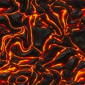 foto of magma  - Seamless lava or fire texture - JPG