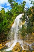 Waterfall in Soroa, a famous cuban touristic landmark poster