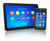 Tablet PC en touchscreen smartphone