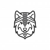 Wolf Vector Icon On White Background. Wolf Icon In Modern Design Style. Wolf Vector Icon Popular And poster
