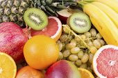 Fresh Mixed Fruits.fruits Background.healthy Eating, Dieting.love Fruits, Clean Eating. poster