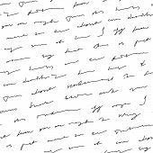 Handwriting Background Seamless Pattern Grunge Letters Words poster