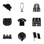 European Cuisine Icons Set. Simple Set Of 9 European Cuisine Icons For Web Isolated On White Backgro poster