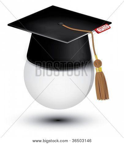 Graduation cap . Vector