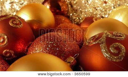 Orange, Red & Gold Christmas Balls