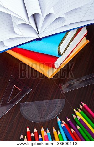 Books and pencils ready for back to school