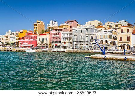 Agios Nikolaos city on Crete, Greece