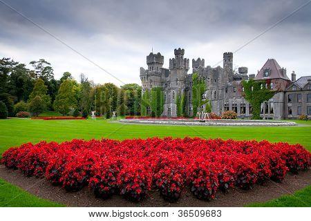 Ashford castle and gardens in Co. Mayo, Ireland